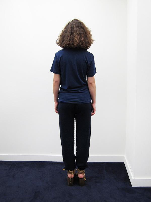 Unisex Correll Correll Duo Velvet T-Shirt, Navy/Black