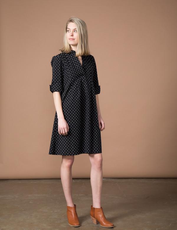 SBJ Austin Ellen Dress - Black Swiss Dot
