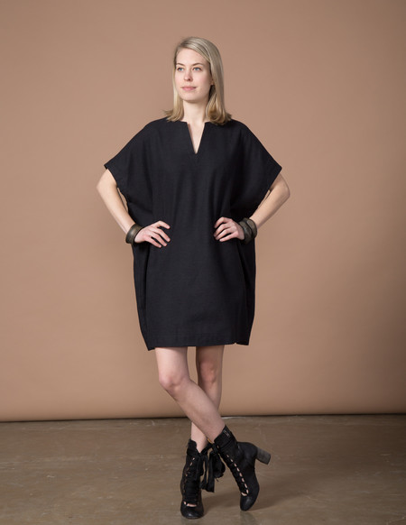 SBJ Austin Mary Dress - Black Woven