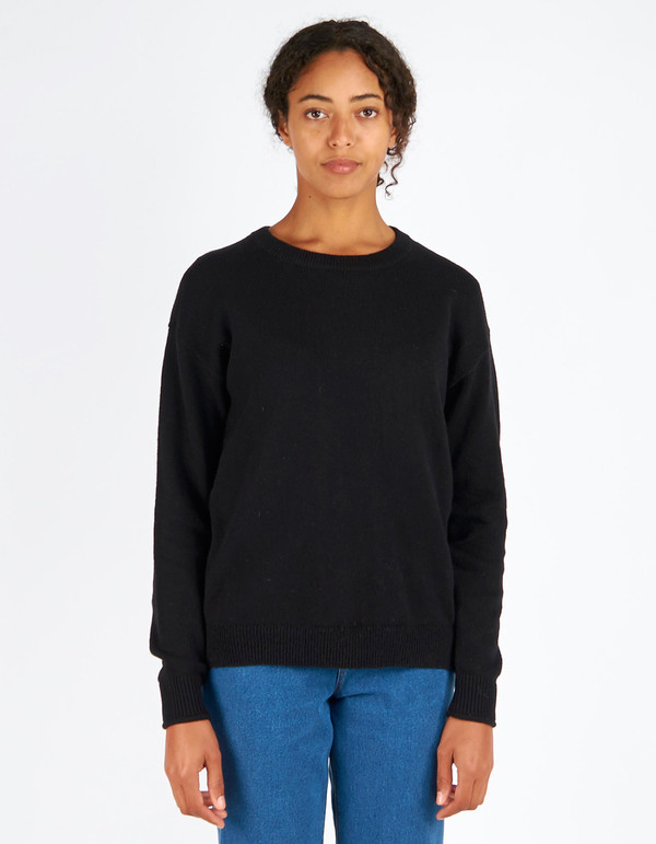Filippa K Cotton Yak Pullover Black