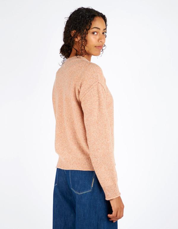 Filippa K Cropped Pullover Almondine Melange