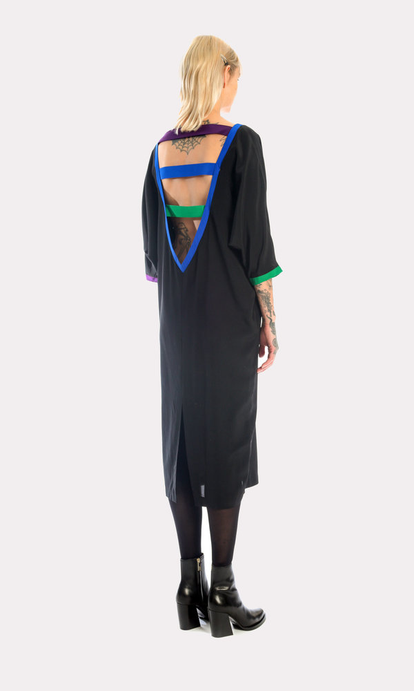 Kurt Lyle VC Original Dress in Crayola/Black