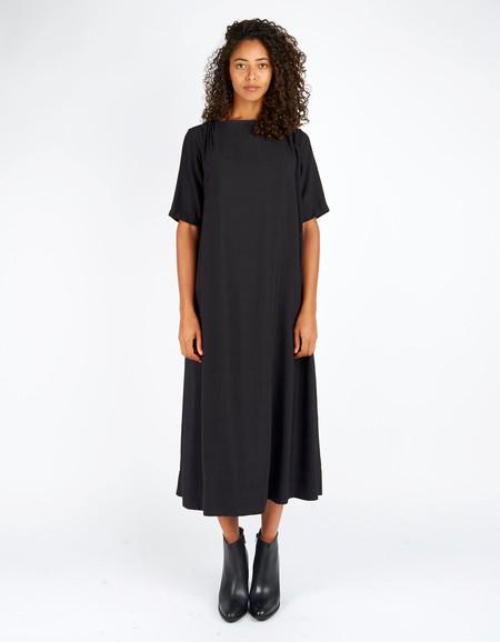 Sunja Link x Still Life Gathered Yoke Dress Black