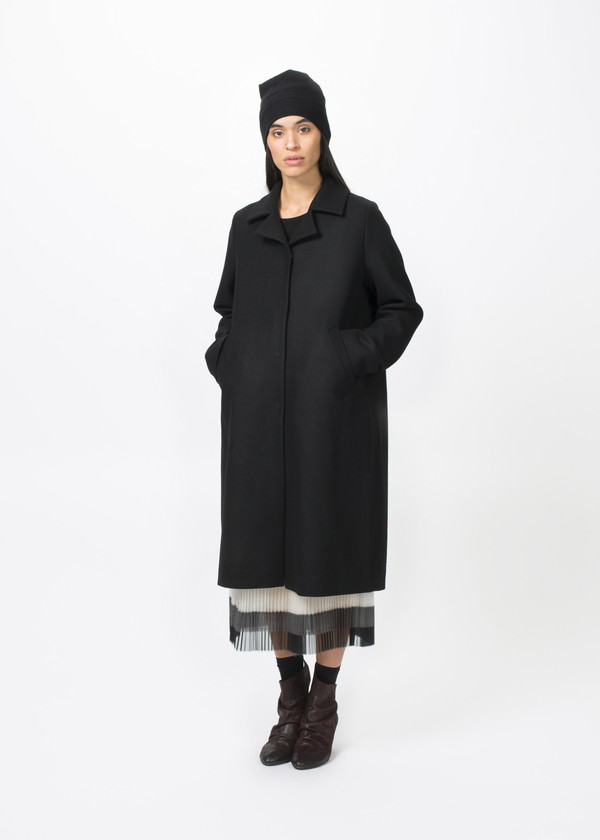 Hudson Single Breasted Oversize Coat