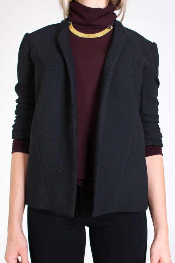 Obakki Textured blazer in black