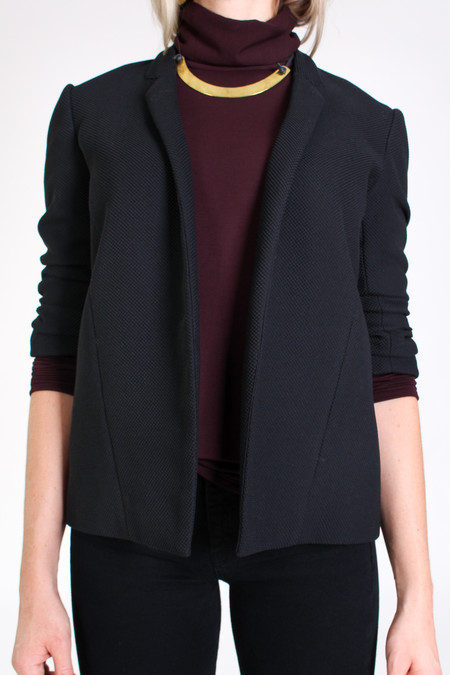 Obakki Textured blazer in black