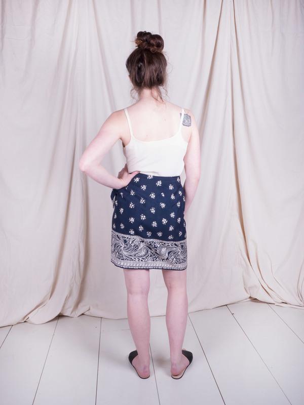 Woods Vintage Silk Wrap Skirt