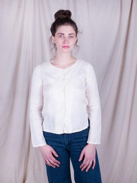 Woods Vintage Linen Buttondown Top