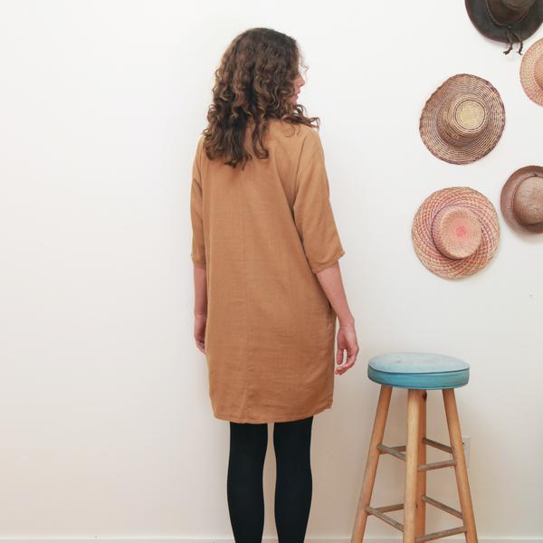 Me & Arrow Dolman 3/4 Sleeve Dress<br>Apple Cinnamon