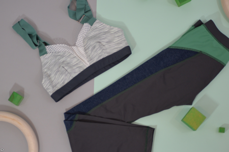 VPL X-Curvate Legging: Charcoal with Sage