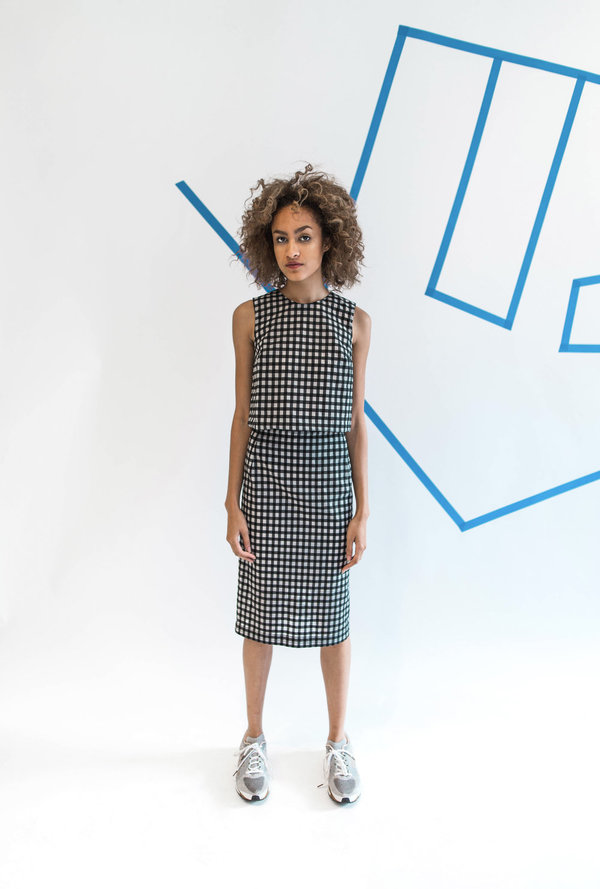 Carleen Gingham Pencil Skirt