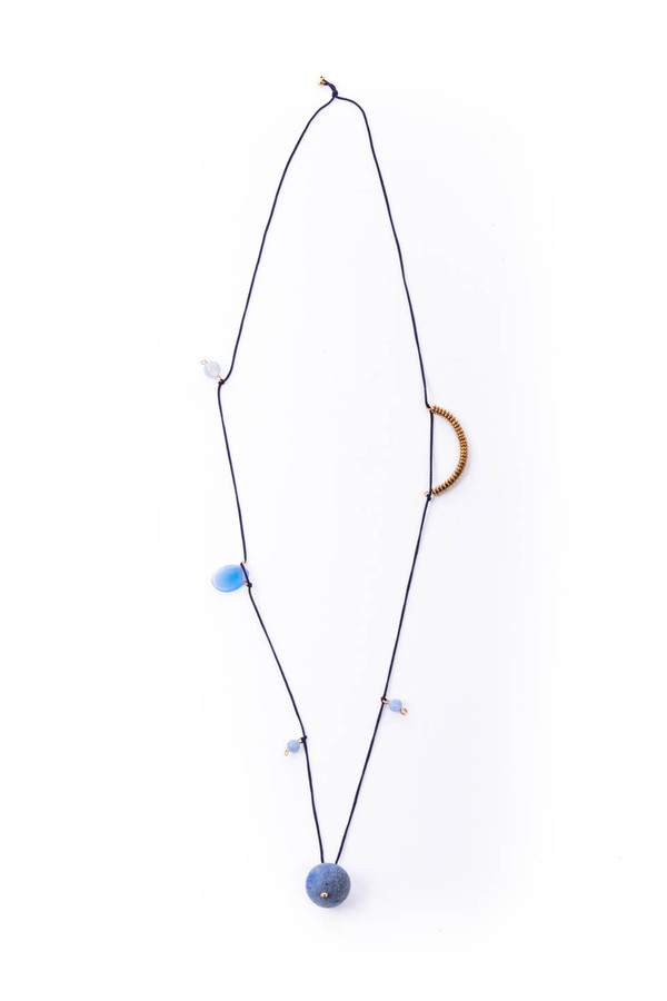 OkiikO Garden Necklace in Blue