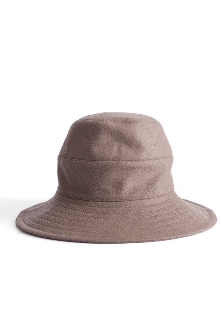 Tsuyumi Wide Brim Wool Hat Taupe