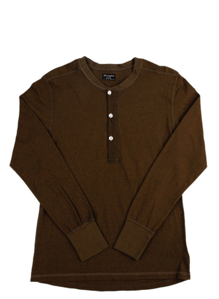 Men's Homespun Coalminer Henley Olive Drab