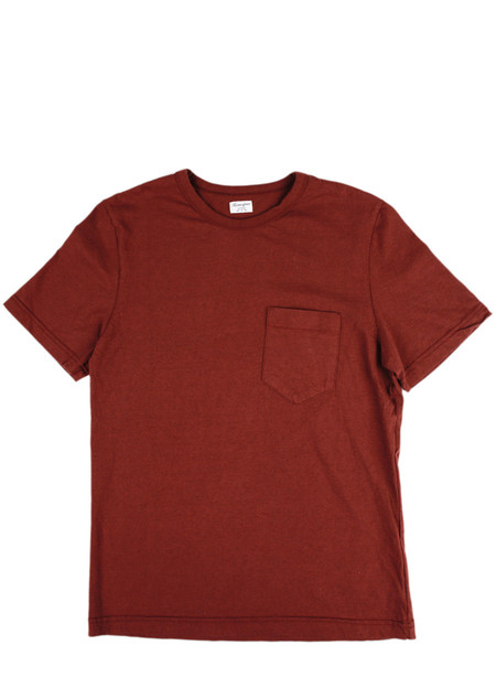 Men's Homespun Dad's Pocket Tee Oxblood