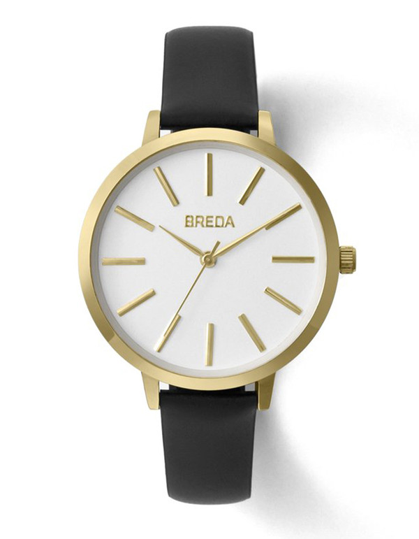 Breda Joule Watch Gold Black