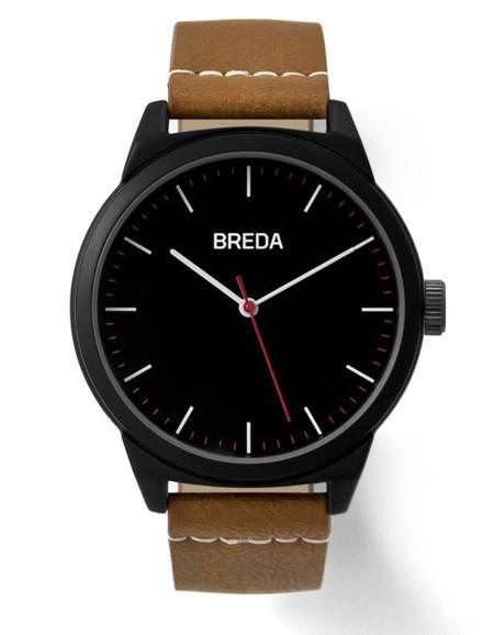 Breda Rand Watch Black Brown