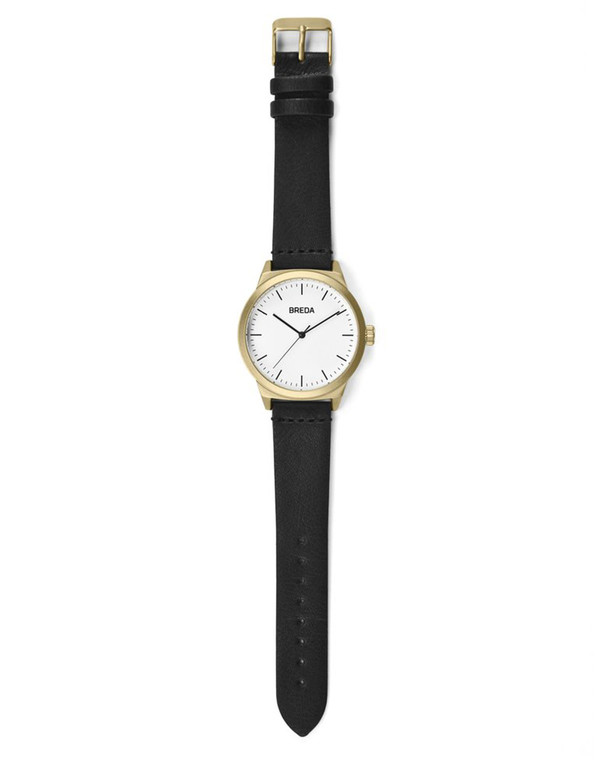 Breda Rand Watch Gold Black