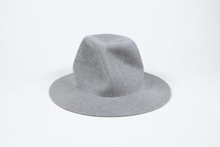 Clyde Pinwheel Hat in Heather Grey