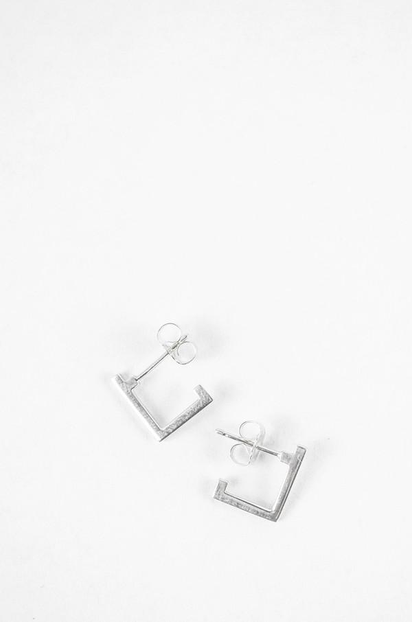 Still House Sterling Silver Carre Earrings