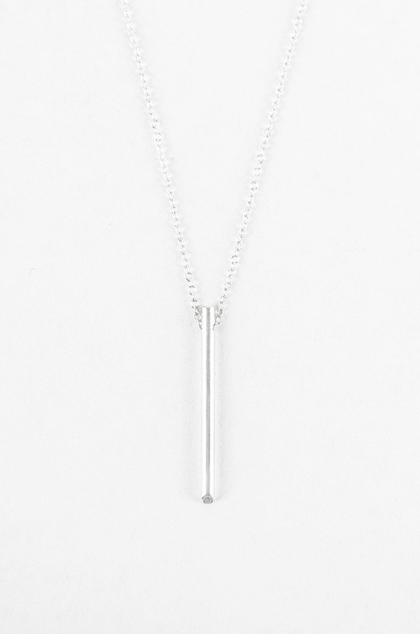 Still House White Diamond Silver Ossu Necklace
