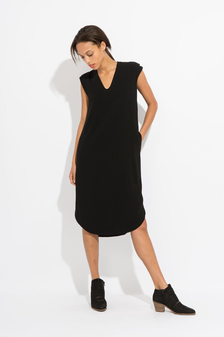 SCHAI Drappo Lean Dress - Black