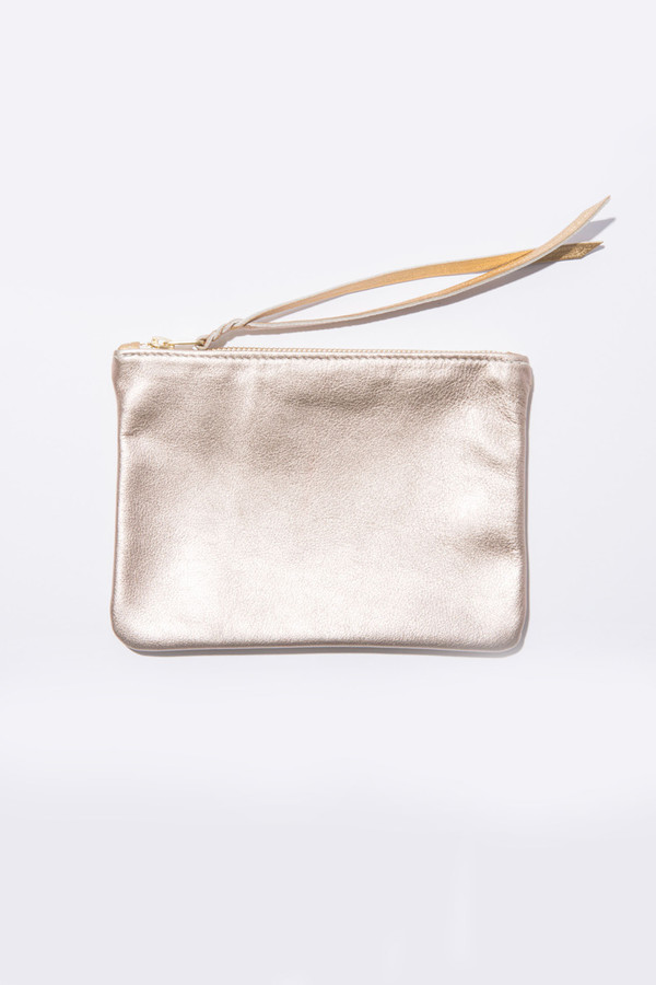 moses nadel Metallic Medium Pouch