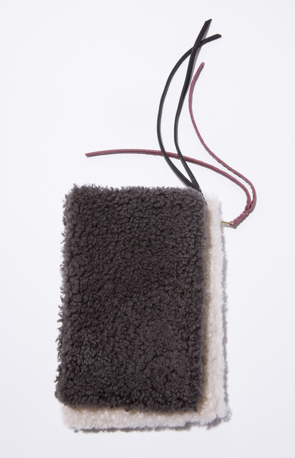 Moses Nadel Shearling Pouch