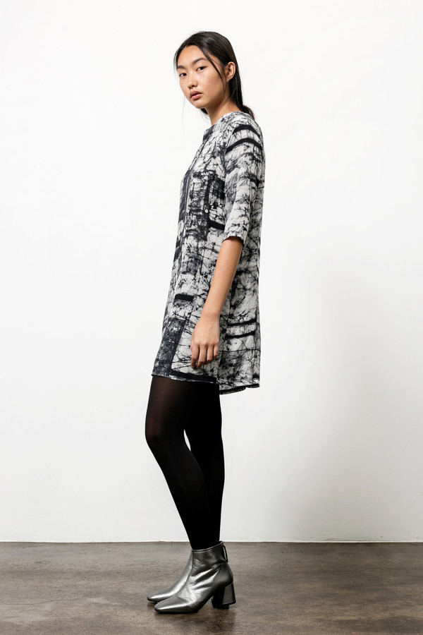 Osei-Duro Linter Dress in Broken Barcode