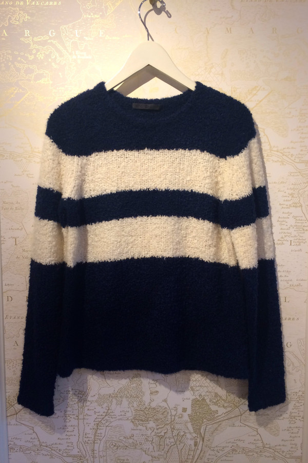 Jenni Kayne Striped Boucle Cashmere Sweater