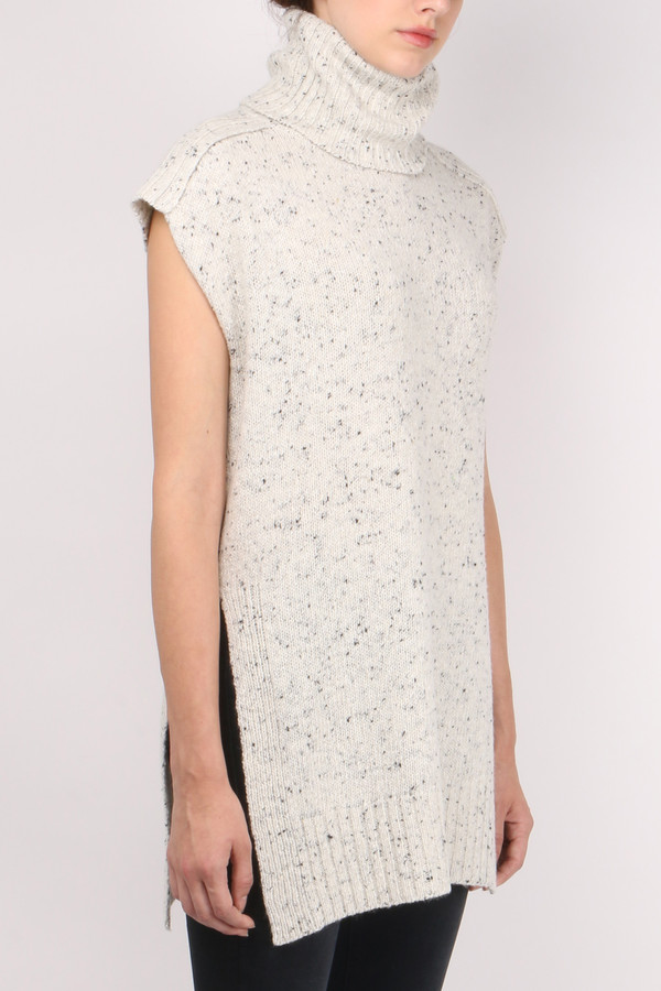 Sita Murt Turtleneck Tweed Waistcoat