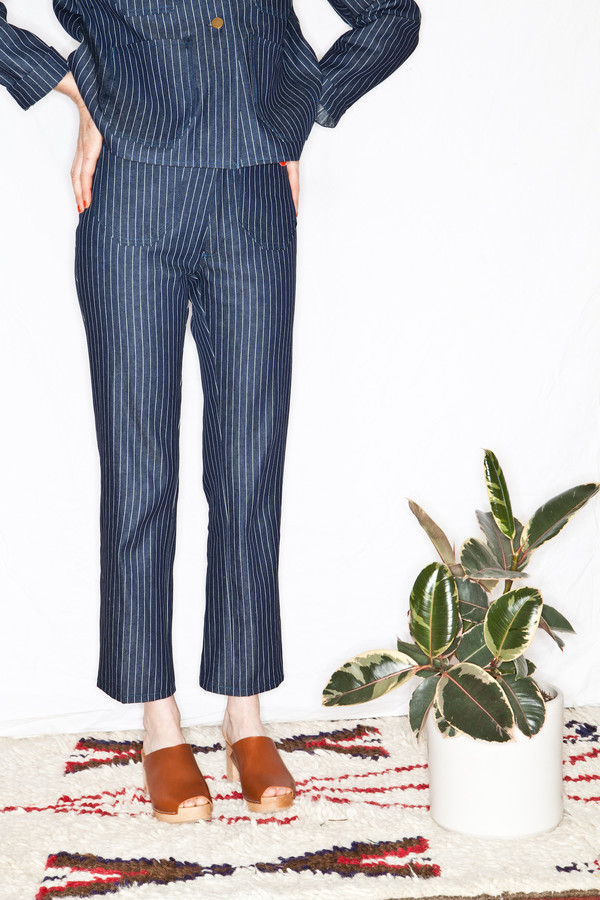 Lykke Wullf Ranch Pant Pinstripe Denim