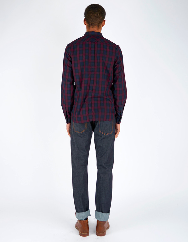 Men's Fred Perry Winter Tartan Shirt Mahogany