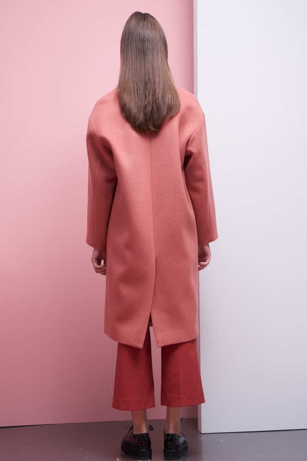 LOOKAST Oversized Single Breasted Coat- Blush