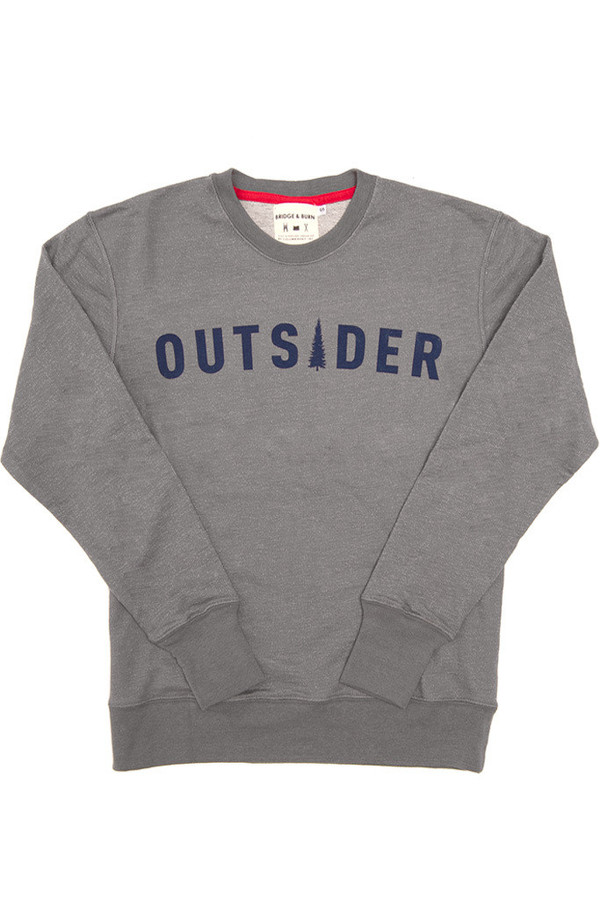 Men's Bridge & Burn Columbiaknit Men's Outsider Sweatshirt Slate