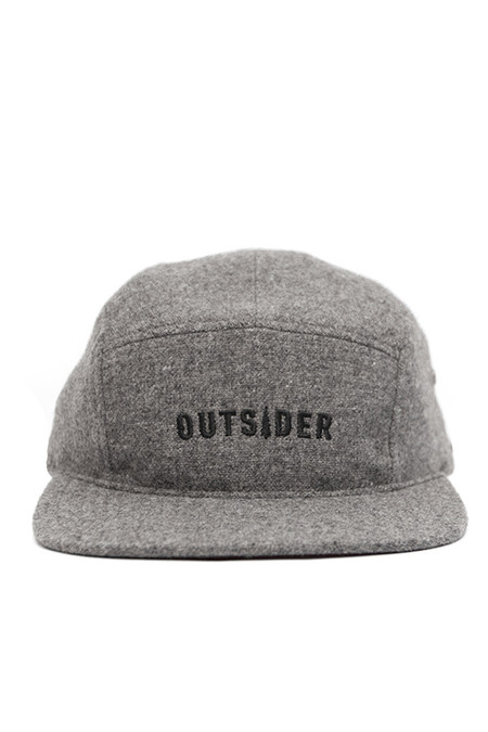 Men's Bridge & Burn Outsider Five Panel Cap Charcoal Wool