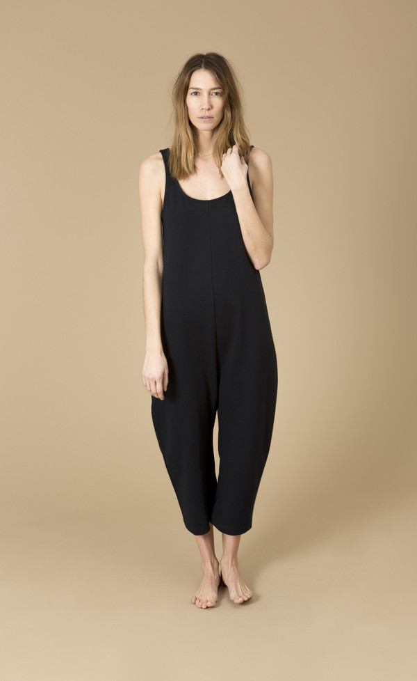 Ilana Kohn Gary Jumpsuit, Cream, Cotton French Terry