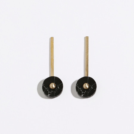 Metalepsis Projects Disc Earrings - Black