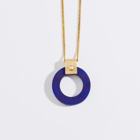 Metalepsis Projects Wheel Pendant - Blue