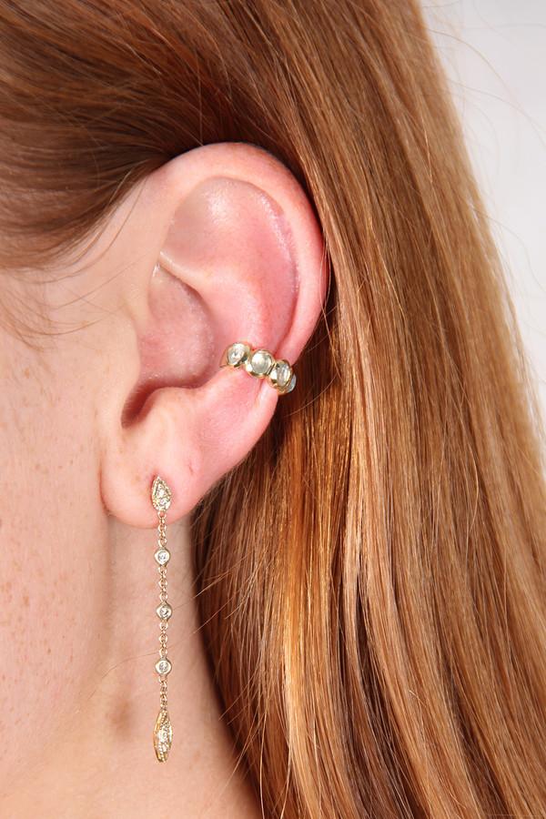 JAQUIE AICHE 3 DIAMOND TINKERBELL CHAIN STUD