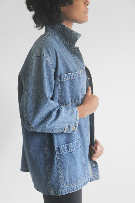 The Shudio Vintage Denim Studio Coat