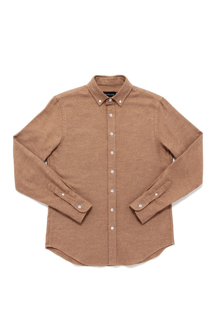 Men's Outclass Twill Flannel Long Sleeve Shirt | Camel