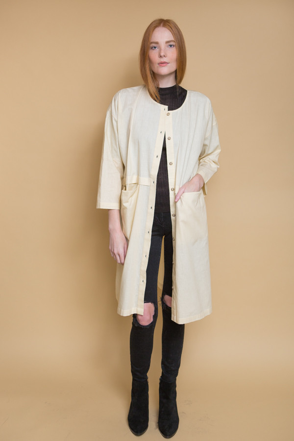 Revisited Matters Raincoat Dress / Cream
