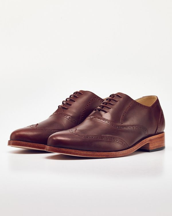 Men's Nisolo Taylor Wingtip Brandy 5 for 5