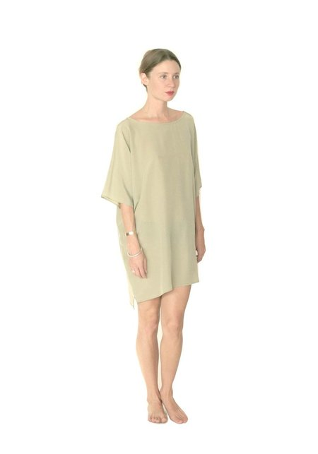 Strathcona Tunic Dress in Light Moss Green