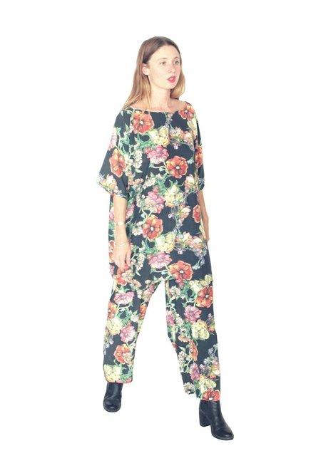 Strathcona Watercolour Bouquet Silk Leisure Suit