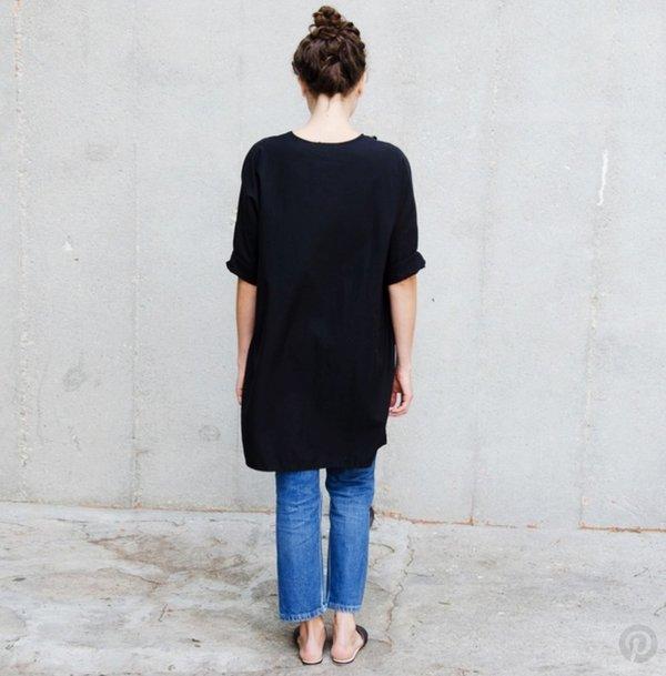 Ali Golden Kimono Tunic Black