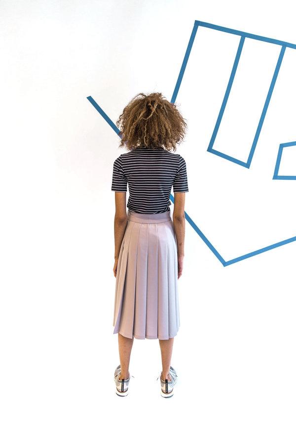 Nomia Midi Pleated Skirt - Mauve