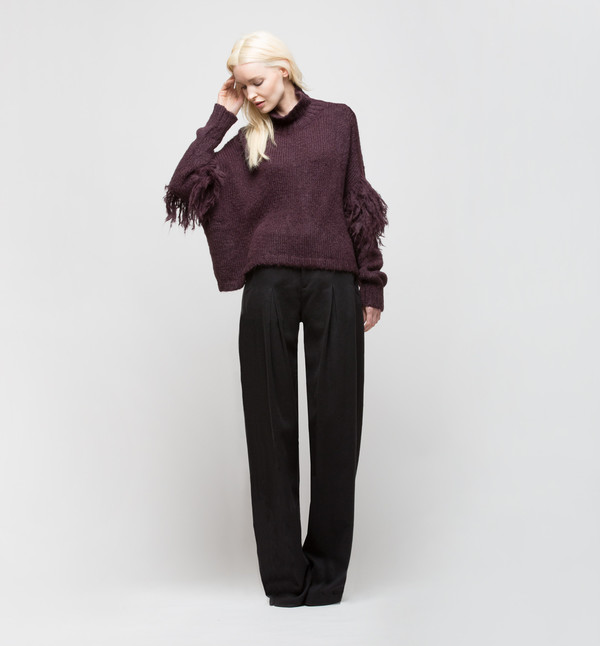 Laura Siegel Turtleneck Sweater Purple Smoke