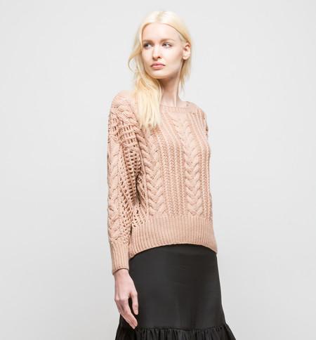 Ryan Roche Cropped Sweater Rose